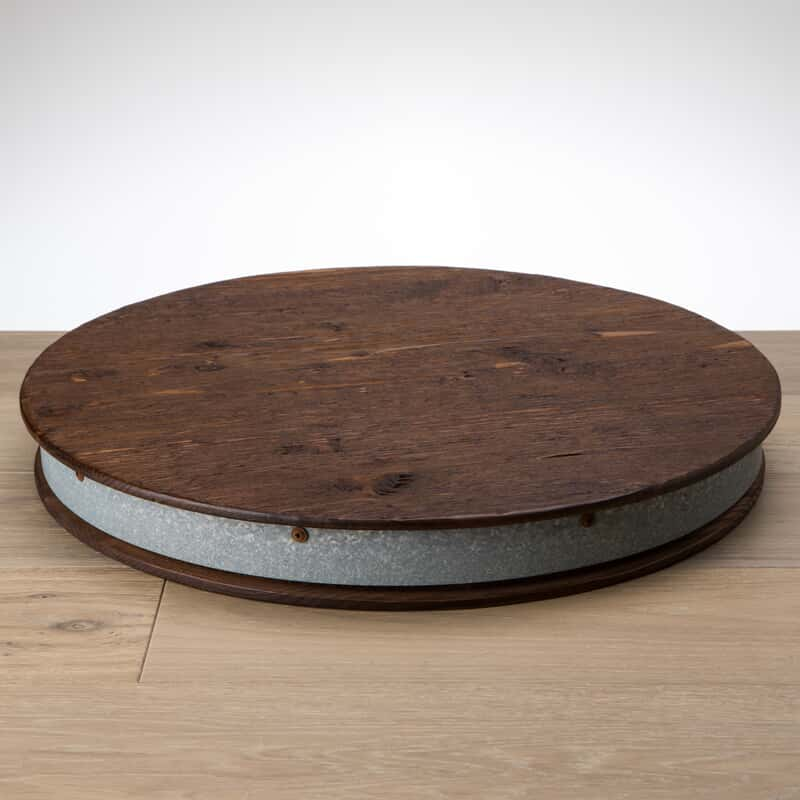 Wine Barrel Lazy Susan Tabletop Tabletop August Haven