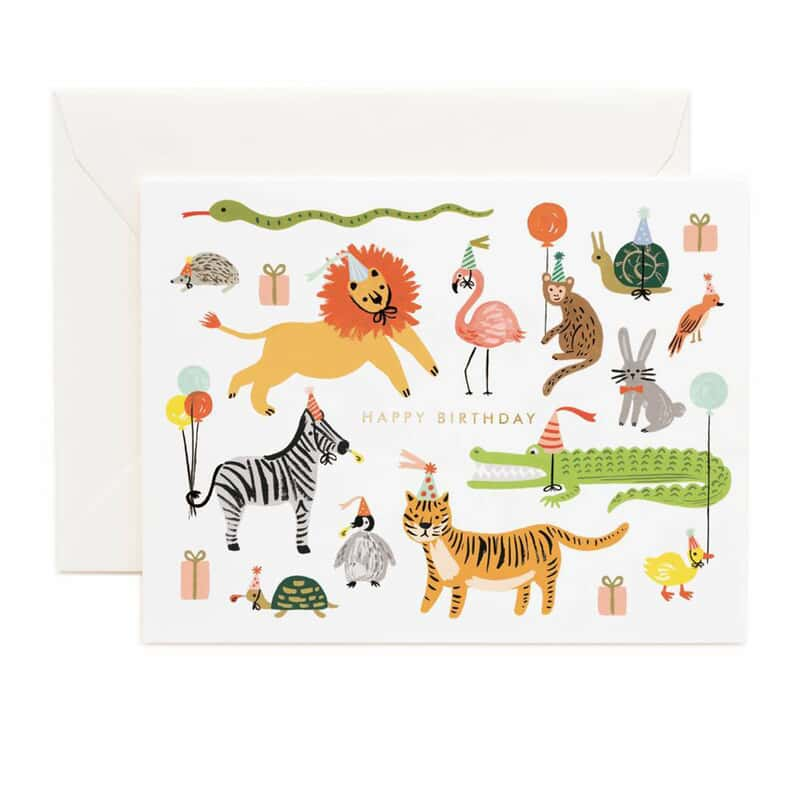 Party Animals Birthday Card Paper August Haven Furniture Home