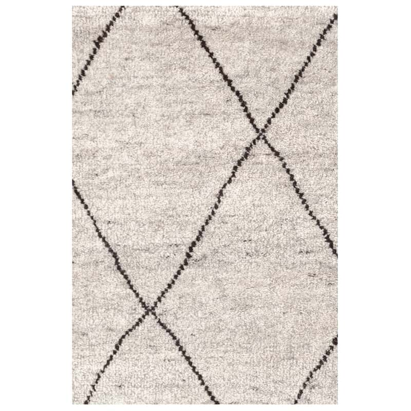 10x14 Coal Hand Knotted Rug Décor