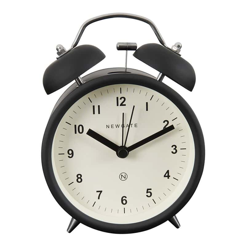 Charlie Black Bell Alarm Clock