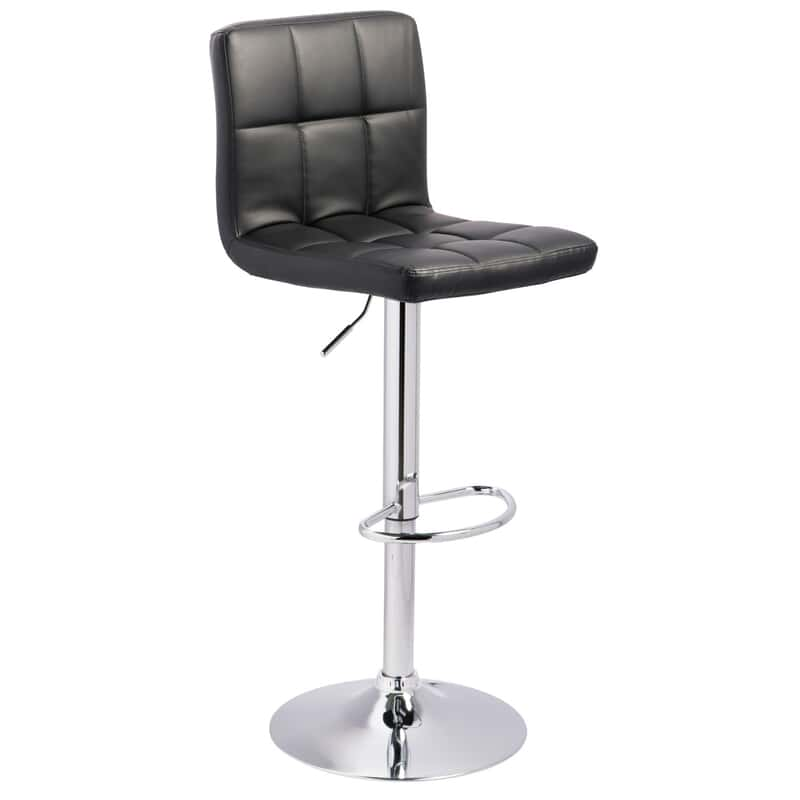 Surprising Aubry Black Adjustable Swivel Barstool Lamtechconsult Wood Chair Design Ideas Lamtechconsultcom