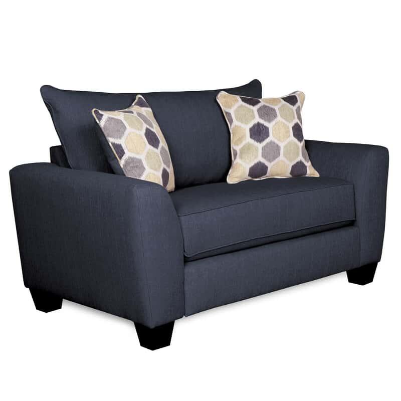 Fabulous Downtown Blue Twin Sleeper Chair Theyellowbook Wood Chair Design Ideas Theyellowbookinfo