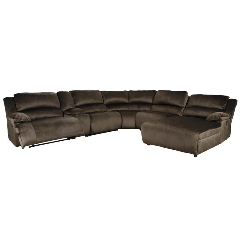 Pleasing Monty 6 Pc Reclining Sectional Pdpeps Interior Chair Design Pdpepsorg
