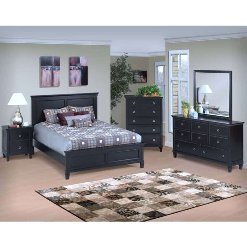 Cecelia II Black Queen 7-Pc. Room Package